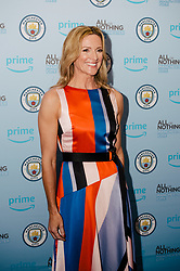 Gabby Logan attends the World Premiere of Prime Video series. All or Nothing: Manchester City, at The Printworks in Manchester ahead of its release on Friday.