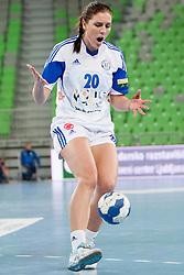 Camilla Dalby #20 of ZRK Buducnost during handball match between RK Krim Mercator (SLO) and ZRK Buducnost (MNE) in 6th Round of Main Round of Women's EHF Champions League 2013/14  on March 15, 2014 in SRC Stozice, Ljubljana, Slovenia. Photo by Urban Urbanc / Sportida.com