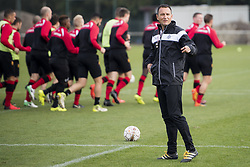 November 2, 2017 - Mechelen, BELGIUM - Mechelen's new head coach Aleksandar Jankovic pictured in action during his first training session after a press conference of Belgian first division soccer team KV Mechelen, in Mechelen, Thursday 02 November 2017, to present their new head coach. Last week the club dismissed coach Ferrera and appointed Serbian Jankovic for a second stint, he already coached the club from May 2014 to September 2016. BELGA PHOTO JASPER JACOBS (Credit Image: © Jasper Jacobs/Belga via ZUMA Press)
