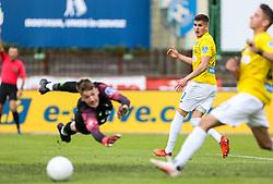Nino Žugelj of Bravo vs Ziga Frelih of Olimpija during football match between NK Bravo and NK Olimpija in 36th Round of Prva liga Telekom Slovenije 2020/21, on May 22, 2021 in Sportni park ZAK, Ljubljana, Slovenia. Photo by Vid Ponikvar / Sportida
