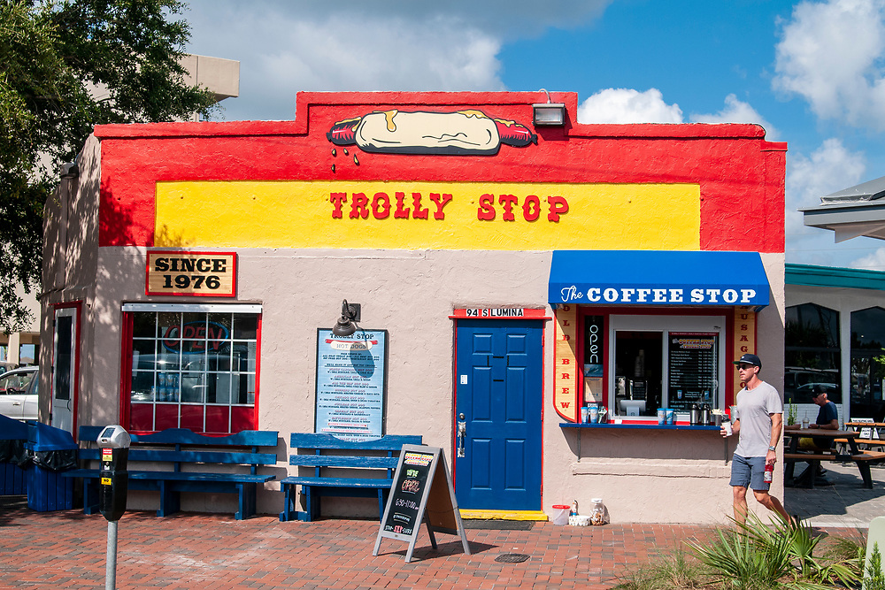 The Trolly Stop in Wrightsville Beach, North Carolina on Tuesday, August 10, 2021. Copyright 2021 Jason Barnette