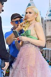 EXCLUSIVE: Gwen Stefani gets her make up retouched while performing at Disneyland. 15 Nov 2018 Pictured: Gwen Stefani. Photo credit: Marksman / MEGA TheMegaAgency.com +1 888 505 6342