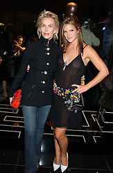 Left to right, TRUDIE STYLER and her daughter KATIE SUMNER at a party hosted by Versace during London Fashion Week 2005 at their store in Slaone Street, London on 19th September 2005.<br />