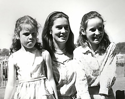 Left to right, SARAH, DUCHESS OF YORK her mother MRS SUSAN<br />  BARRANTES and her sister JANE in July 1967.   EWJ 1