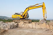 Limestone quarry workings in the Isle of Purbeck. Dorset, UK