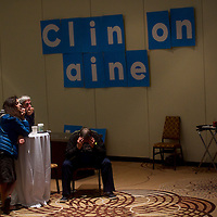 PHILADELPHIA, PA - November 8, 2016.  (L-R) Victoria Sternberg, Doug Chandler, and Donald Morrison react to disappointing elections results during the Pennsylvania Democratic Party election night watch party at the Sheraton Downtown for in Philadelphia, PA November 8, 2016.  CREDIT: Mark Makela for The New York Times     NYTELX