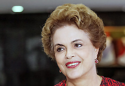 Image provided by Brazil's Presidency shows Brazilian President Dilma Rousseff taking part in a press conference in Brasilia, capital of Brazil, on March 16, 2016. Former Brazilian President Luiz Inacio Lula da Silva has been named chief of staff for President Dilma Rousseff's cabinet, the president said on Wednesday. At a press conference held hours after the nomination was announced, Rousseff said she was seeking economic balance and control of inflation with this move. EXPA Pictures © 2016, PhotoCredit: EXPA/ Photoshot/ Brazil Presidency<br /> <br /> *****ATTENTION - for AUT, SLO, CRO, SRB, BIH, MAZ, SUI only*****