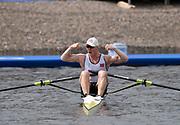 Glasgow, Scotland, Sunday, 5th  August 2018, Final Men's  Single Sculls, Gold  Medalist, NOR M1X, Kjetil BORCH,   European Games, Rowing, Strathclyde Park, North Lanarkshire, © Peter SPURRIER/Alamy Live News