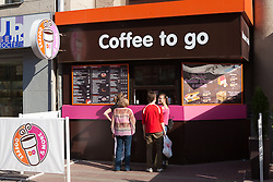 stock photo of a dunkin' donuts in russia