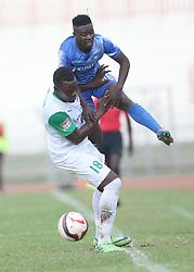 Harun Shakava of Gor Mahia shields from Boniface Akenga of Nakumatt FC during their Sportpesa Premier League tie at Nyayo Stadium in Nairobi on August, 2, 2017. Gor won 1-0. Photo/Fredrick Omondi/www.pic-centre.com(KENYA)