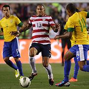 Jermaine Jones, USA, in action during the USA V Brazil International friendly soccer match at FedEx Field, Washington DC, USA. 30th May 2012. Photo Tim Clayton