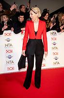 Emma Willis at the 25th National Television Awards, Arrivals, O2, London, UK 28 Jan 2020  photos by Brian Jordan