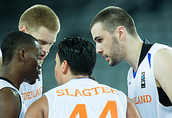 Players of Netherlands during basketball match between Netherlands and Macedonia at Day 2 in Group C of FIBA Europe Eurobasket 2015, on September 6, 2015, in Arena Zagreb, Croatia. Photo by Vid Ponikvar / Sportida