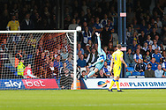 Luton Town goalkeeper James Shea (36) makes a save during the EFL Sky Bet League 1 match between Luton Town and Bristol Rovers at Kenilworth Road, Luton, England on 15 September 2018.