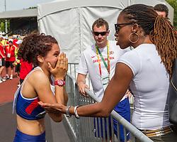 Women's 100 meter hurdles, Yasmin Miller, GBR