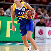 Lotos Gdynia's Adrijana KNEZEVIC during their woman Euroleague group A matchday 5 Galatasaray between Lotos Gdynia at the Abdi Ipekci Arena in Istanbul at Turkey on Wednesday, November 09 2011. Photo by TURKPIX