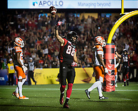 OTTAWA, ON - JULY 20: CFL match between the Ottawa RedBlacks and the B.C. Lions at TD Place Stadium in Ottawa, ON. Canada on July 20, 2018.<br /> <br /> PHOTO: Steve Kingsman/Freestyle Photography