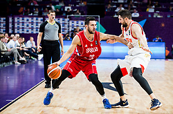 Vasilje Micic of Serbia vs Nikita Kurbanov of Russia during basketball match between National Teams of Russia and Serbia at Day 16 in Semifinal of the FIBA EuroBasket 2017 at Sinan Erdem Dome in Istanbul, Turkey on September 15, 2017. Photo by Vid Ponikvar / Sportida