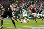 Celtic's James Forrest comes painfully close to getting the lead during the William Hill Scottish Cup Final match between Heart of Midlothian and Celtic at Hampden Park, Glasgow, United Kingdom on 25 May 2019.