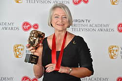Kate Adie with her award at the Virgin TV British Academy Television Awards 2018 held at the Royal Festival Hall, Southbank Centre, London.