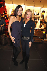 Left to right, Musician LINZI STOPPARD and TV presenter RISSY MITCHELL at a party to celebrate the opening of the new H&M store at 234 Regent Street, London on 13th February 2008.<br /><br />NON EXCLUSIVE - WORLD RIGHTS