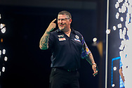 Gary Anderson during the Premier League Darts at Marshall Arena, Milton Keynes, United Kingdom on 5 April 2021.