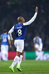 December 6, 2017 - Porto, Porto, Portugal - Porto's Algerian forward Yacine Brahimi celebrates after scoring a goal during the UEFA Champions League Group G match between FC Porto and AS Monaco FC at Dragao Stadium on December 6, 2017 in Porto, Portugal. (Credit Image: © Dpi/NurPhoto via ZUMA Press)