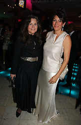 Left to right, KOO STARK and GHISLAINE MAXWELL at Andy & Patti Wong's annual Chinese New year Party, this year to celebrate the Year of The Pig, held at Madame Tussauds, Marylebone Road, London on 27th January 2007.<br /><br />NON EXCLUSIVE - WORLD RIGHTS