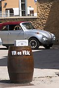 wine shop and beetle chateauneuf du pape rhone france