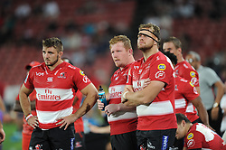 Lions players watch a replay on the bigscreen.Lions vs Blues during a Super Rugby match at the Emirates Airlines Park Stadium, Ellis Park, Johannesburg, South Africa. Picture: Karen Sandison/African News Agency (ANA)