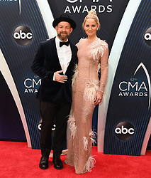 Celebrities arrive at the 52nd Annual CMA Awards at the Bridgestone Arena. 14 Nov 2018 Pictured: Kristian Bush and Jennifer Nettles of Sugarland. Photo credit: MBS/MEGA TheMegaAgency.com +1 888 505 6342
