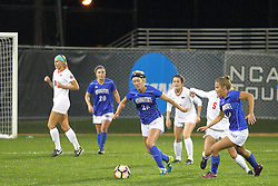 04 November 2016:  Maddie Orf(20), Maddie Schaak(24) during an NCAA Missouri Valley Conference (MVC) Championship series women's semi-final soccer game between the Indiana State Sycamores and the Illinois State Redbirds on Adelaide Street Field in Normal IL
