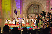 04 August 2010-Santa Barbara, CA: Fiesta Pequen?a.  Opening night celebrations of Old Spanish Days at the Old Mission in Santa Barbara, California.   Photo by Rod Rolle
