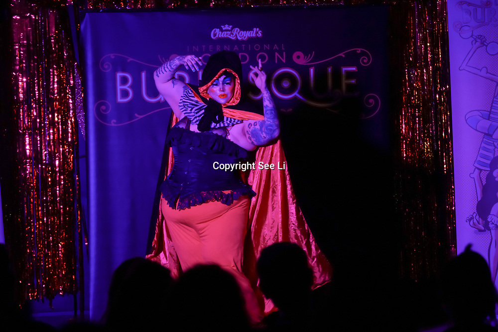 London,England,UK. 22th May 2017. Smashlyn Monroe *London, UK preforms at the London Burlesque Festival 2017 - Tattoo Revue at Moth Club, Hackney,London,UK. by See Li