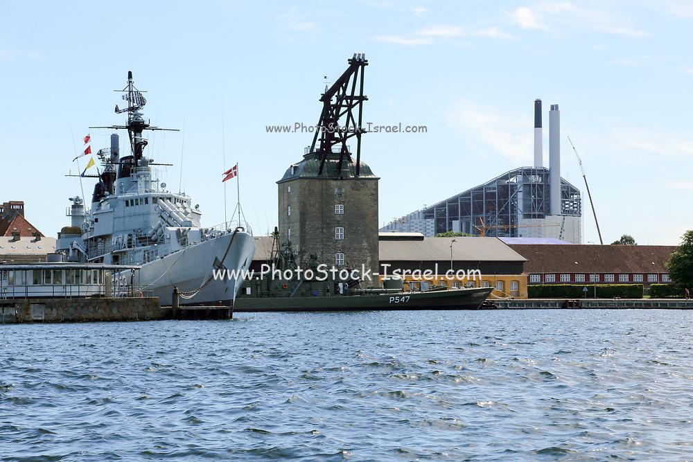 Copenhagen, Denmark Danish military restricted zone in the harbour