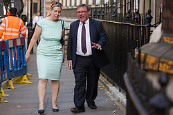 London, UK. 23 July, 2019. Mark Francois, Conservative MP for Rayleigh and Wickford, arrives to attend a celebration in Westminster of Boris Johnson's election as Conservative Party leader and replacement of Theresa May as Prime Minister organised by the pro-Brexit European Research Group (ERG).