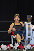 Dresden, GERMANY,  Dresden, GERMANY, US Indoor Rowing Team, Luanne MILLS, competing at the  European Indoor Rowing Championships, Margon Arena,  15/12/2007 [Mandatory Credit Peter Spurrier/Intersport Images
