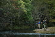 Fly fishing at Beaver's Bend State Lodge in Broken Bow, Oklahoma for Oklahoma Today magazine