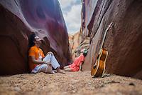 Mantras con Amor at Antelope Canyon, Arizona