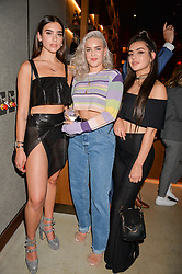 Dua Lipa, Anne-Marie and Charli XCX at the Warner Music Group and British GQ Summer Party in partnership with Quintessentially held at Nobu Shoreditch Willow Street, London England. 5 July 2017.