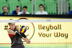 Tugba Senoglu of Turkey during the volleyball match between National team of Turkey and Dominican Republic in Semifinal Round of Womens U23 World Championship 2017, on September 16, 2017 in SRC Stozice, Ljubljana, Slovenia. Photo by Morgan Kristan / Sportida