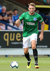 """Brighton and Hove Albion's Dale Stephens during a pre season friendly match at The Cherry Red Records Stadium, Kingston Upon Thames. PRESS ASSOCIATION Photo. Picture date: Saturday July 21, 2018. Photo credit should read: Mark Kerton/PA Wire. EDITORIAL USE ONLY No use with unauthorised audio, video, data, fixture lists, club/league logos or """"live"""" services. Online in-match use limited to 75 images, no video emulation. No use in betting, games or single club/league/player publications."""