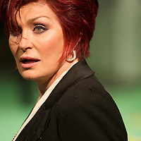 TV personality Sharon Osbourne attends the Royal World Premiere of 'Alice in Wonderland' at the Odeon Leicester Square in London.