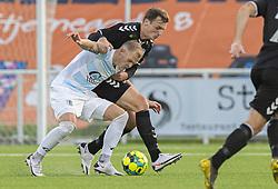 Philip Rejnhold (FC Helsingør) kæmper med Adam Jakobsen (Kolding IF) under kampen i 1. Division mellem FC Helsingør og Kolding IF den 24. oktober 2020 på Helsingør Stadion (Foto: Claus Birch).