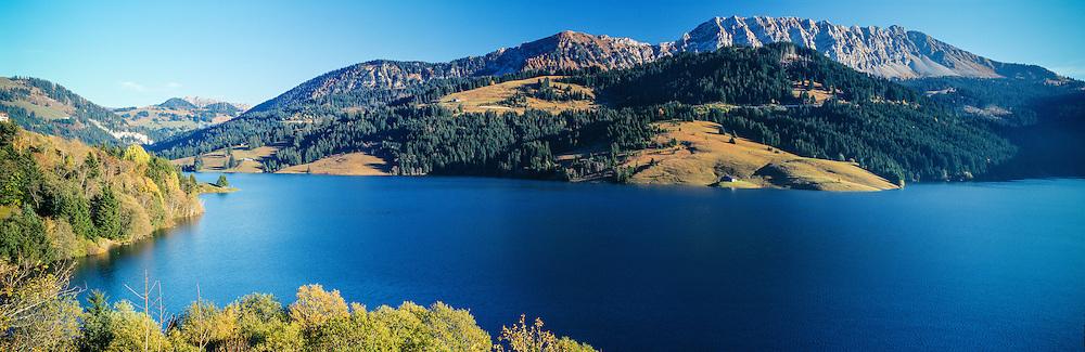 Lake Hongrin (artificial lake, dam), Vaud, Switzerland