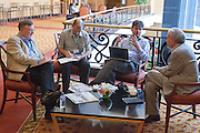 Participants hold an informal meeting during a coffee break at the General Assembly of the Tropical Forest Alliance 2020 in Jakarta, Indonesia, on March 11, 2016. <br /> (Photo: Rodrigo Ordonez)