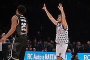 Stefano Mancinelli<br /> Segafredo Virtus Bologna - Kontatto Fortitudo Bologna<br /> Campionato Basket LNP 2016/2017<br /> Bologna 06/01/2017<br /> Foto Ciamillo-Castoria