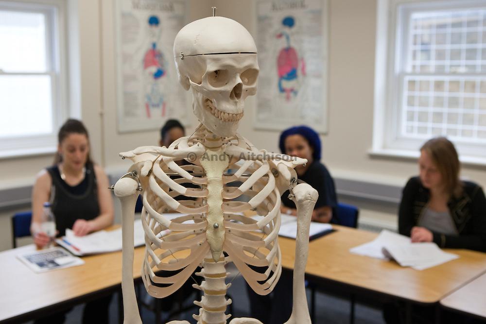 Prisoners attending a health education class. HMP Send, closed female prison. Ripley, Surrey.