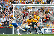 Tranmere Rovers midfielder James Norwood (10) shoots during the EFL Sky Bet League 2 Play Off Final match between Newport County and Tranmere Rovers at Wembley Stadium, London, England on 25 May 2019.
