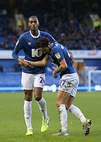 Blackburn Rovers' Lewis Travis is helped to his feet by team mate Blackburn Rovers' Tosin Adarabioyo after he was fouled<br /> Photographer Lee Parker/CameraSport<br /> <br /> The EFL Sky Bet Championship - Sheffield Wednesday v Blackburn Rovers - Saturday 18th January 2020 - Hillsborough - Sheffield<br /> <br /> World Copyright © 2020 CameraSport. All rights reserved. 43 Linden Ave. Countesthorpe. Leicester. England. LE8 5PG - Tel: +44 (0) 116 277 4147 - admin@camerasport.com - www.camerasport.com